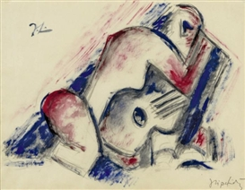 Jacques Lipchitz, Study for Woman and Guitar
