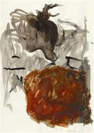 Artwork by Georg Baselitz, Untitled (Adler), Made of Watercolor