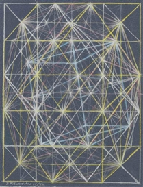 Artwork by Pavel Tchelitchew, Geometry, Made of coloured chalk on paper