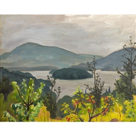 Artwork by John Goodwin Lyman, LAC OUIMET, MONT TREMBLANT, Made of oil on panel