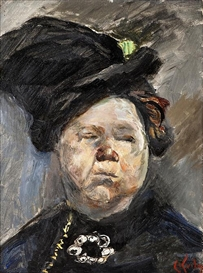Artwork by Christian Krohg, Madam Blom, Made of Oil on board
