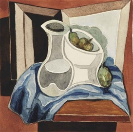 Artwork by Juan Gris, Compotier et carafe, Made of gouache, watercolor and pencil on paper