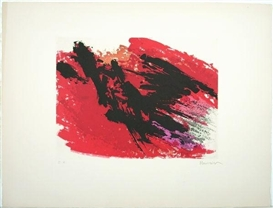 Artwork by Alfred Manessier, Untitled, Made of Colour etching on Arches paper
