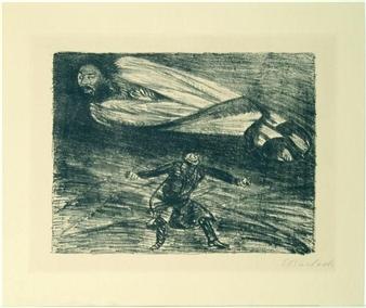 Armer Vetter und Hoher Herr II By Ernst Barlach ,1919
