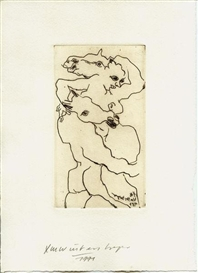 Artwork by Lambert Maria Wintersberger, Untitled, Made of Etching on hamd-made paper