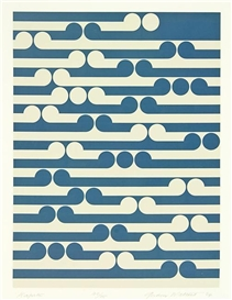 Artwork by Gordon Walters, Kapiti, Made of screenprint