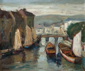 Artwork by Arturo Pacheco Altamirano, Canal, Made of Oil on canvas