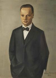 Artwork by Anton Räderscheidt, Portrait of Dr. Georg Lüttke, Made of oil on canvas