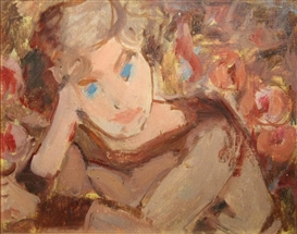 Artwork by Grace Henry, Portrait of a Girl, Made of Oil on board