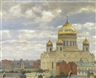 Mikhail Markianovich Germachev, VIEW OF CATHEDRAL OF CHRIST THE SAVIOUR, MOSCOW