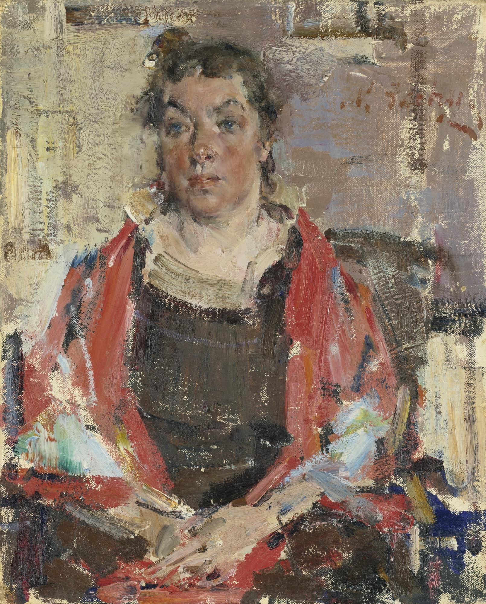 Nicolai fechin portrait of mariussa burliuk oil for Nicolai fechin paintings for sale