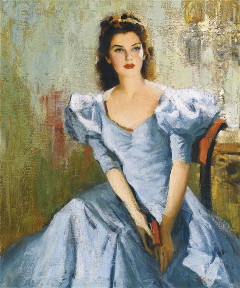 Nicolai fechin portrait of rosalind russell oil for Nicolai fechin paintings for sale