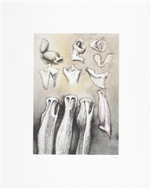 Artwork by Henry Moore, Three Sisters (Cramer 621), Made of Lithograph