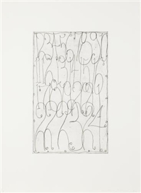 Artwork by Matt Mullican, Untitled, Made of The complete set of five etchings printed with tone
