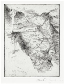 Artwork by Georg Baselitz, Hochstein (Jahn 82), Made of Drypoint etching