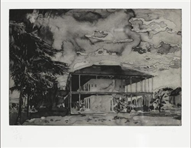 Artwork by Hurvin Anderson, Nine Etchings, Made of The complete set of nine etchings
