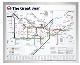 Artwork by Simon Patterson, The Great Bear, Made of Lithograph printed in colours