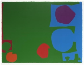 Artwork by Patrick Heron, Three Reds in Green and Magenta in Blue, Made of Screenprint