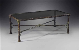 Artwork by Diego Giacometti, Table Grecque, Made of bronze with brown-green patina