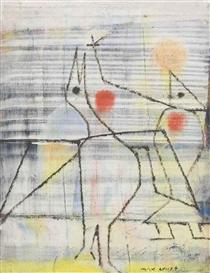 Artwork by Max Ernst, Sans titre, Made of oil on panel
