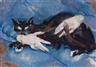 Max Oppenheimer, Die schwarze Katze