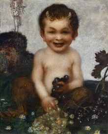 Artwork by Franz von Stuck, Young faun, Made of oil on canvas