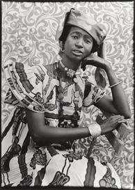 Artwork by Seydou Keïta, WOMAN IN WIDE CAMISOLE DRESS, Made of Gelatin silver print