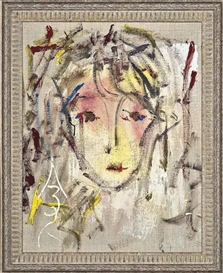 Artwork by Anatoly Zverev, Portait of a woman III, Made of oil on canvas