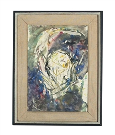 Artwork by Anatoly Zverev, Abstracted head, Made of gouache on paper