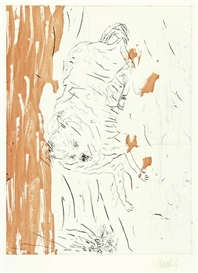 Artwork by Georg Baselitz, Samson, Made of Etching and aquatint on Somerset paper