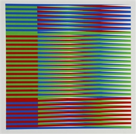 Artwork by Carlos Cruz-Diez, Portfolio of 8 Works: Couleur additive, Made of silkscreens printed in colors