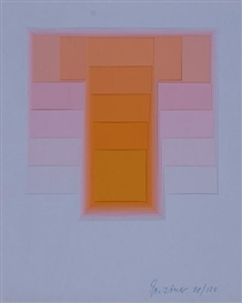Artwork by Karl Gerstner, 2 Works: Color Sound, Made of Silkscreen relief