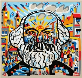 Artwork by François Boisrond, Karl Marx, Made of Acrylic on paper
