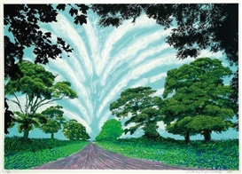 David Hockney, Winter Road Near Kilham