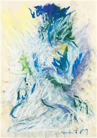 Artwork by Otto Muehl, Untitled, Made of Pastel on paper