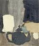 Hans Schärer, Komposition mit schwarzem Teekrug