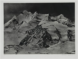 Artwork by Balthasar Burkhard, Mappe. Alpen, Made of heliogravures