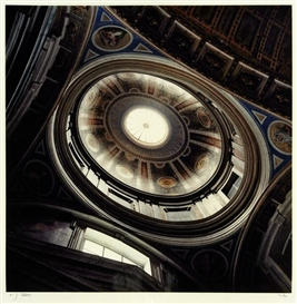 "Artwork by Jan Dibbets, Oudenbosch, St. from ""Ten Cupolas"", Made of C-print"