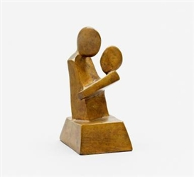 Artwork by Anton Räderscheidt, Untitled (Mother and Child), Made of Bronze