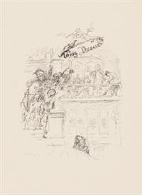 Artwork by Max Slevogt, Neun Steinzeichnungen zum König Drosselbart, Made of lithographs