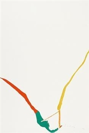 Artwork by Helen Frankenthaler, What red lines can do, Made of Colour serigraph