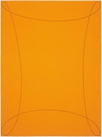 Artwork by Robert Mangold, Orange, Made of Colour serigraph