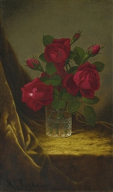 Artwork by Martin Johnson Heade, JACQUEMINOT ROSES, Made of oil on canvas