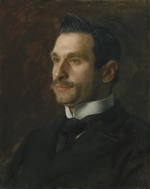 Artwork by Thomas Eakins, PORTRAIT OF FRANCESCO ROMANO, Made of oil on canvas