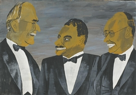 Artwork by Ben Shahn, VANDENBERG, DEWEY AND TAFT, Made of gouache on paper mounted on board