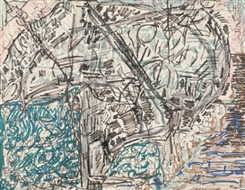 Artwork by Jean-Paul Riopelle, Untitled, Made of mixed media on paper