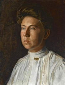 Artwork by Thomas Eakins, Portrait of Rebecca MacDowell (Mrs. J. Randolph Garrett), Made of oil on canvas