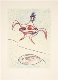 Artwork by Max Ernst, From: Pierre Hebey, Festin, Made of lithographs on Arches