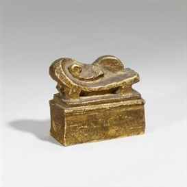 Artwork by Jacques Lipchitz, Reclining Woman Maquette No. 1, Made of Bronze, gilt
