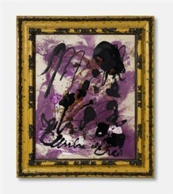 Artwork by Julian Schnabel, Untitled, Made of Oil, resin and textile on canvas